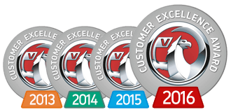 Vauxhall Customer Excellence Awards 2013-2016